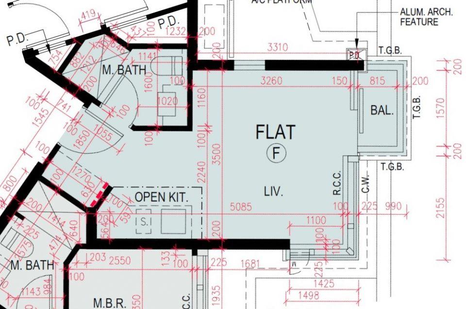 海璇5A座3樓F室平面圖