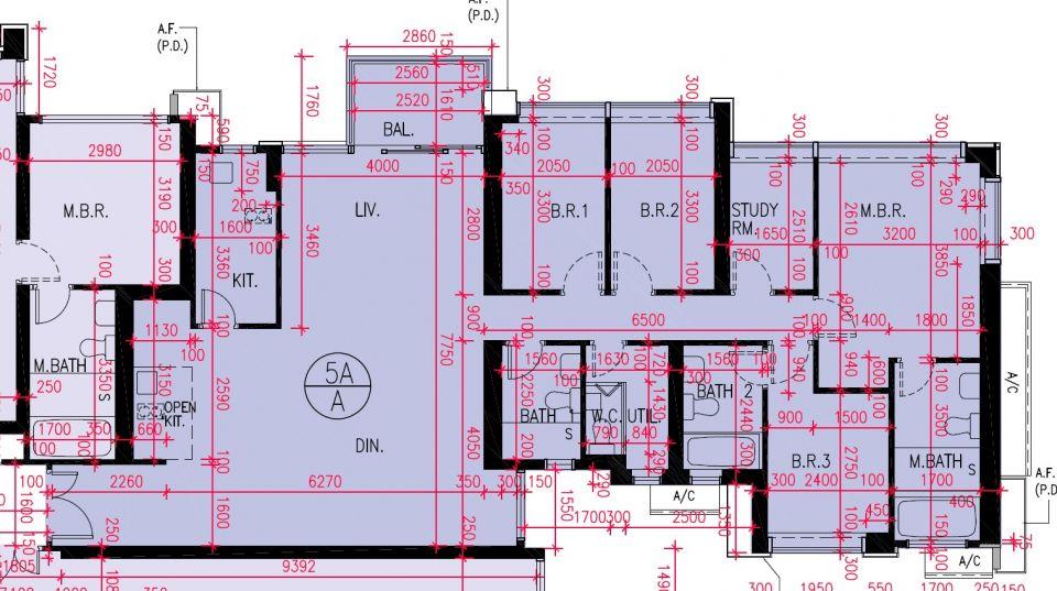 5A座A室平面圖