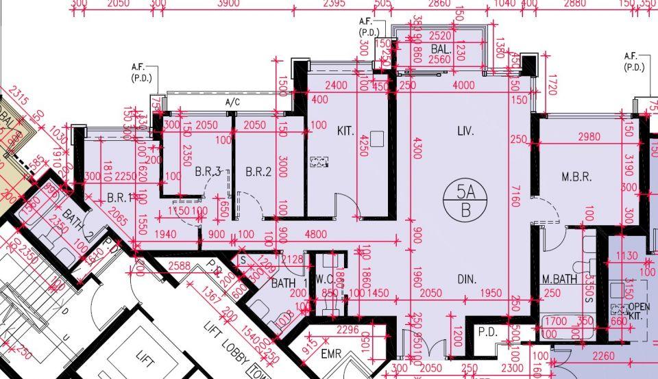 5A座B室平面圖