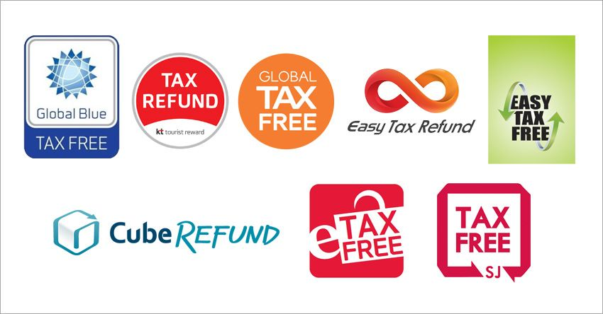 EASY TAX FREE、SJ TAXFREE僅可在機場或港口退稅  韓國退稅標誌